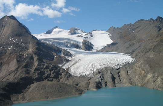 Gries glacier in September 2007 (taken by M. Funk on 23/09/2007)