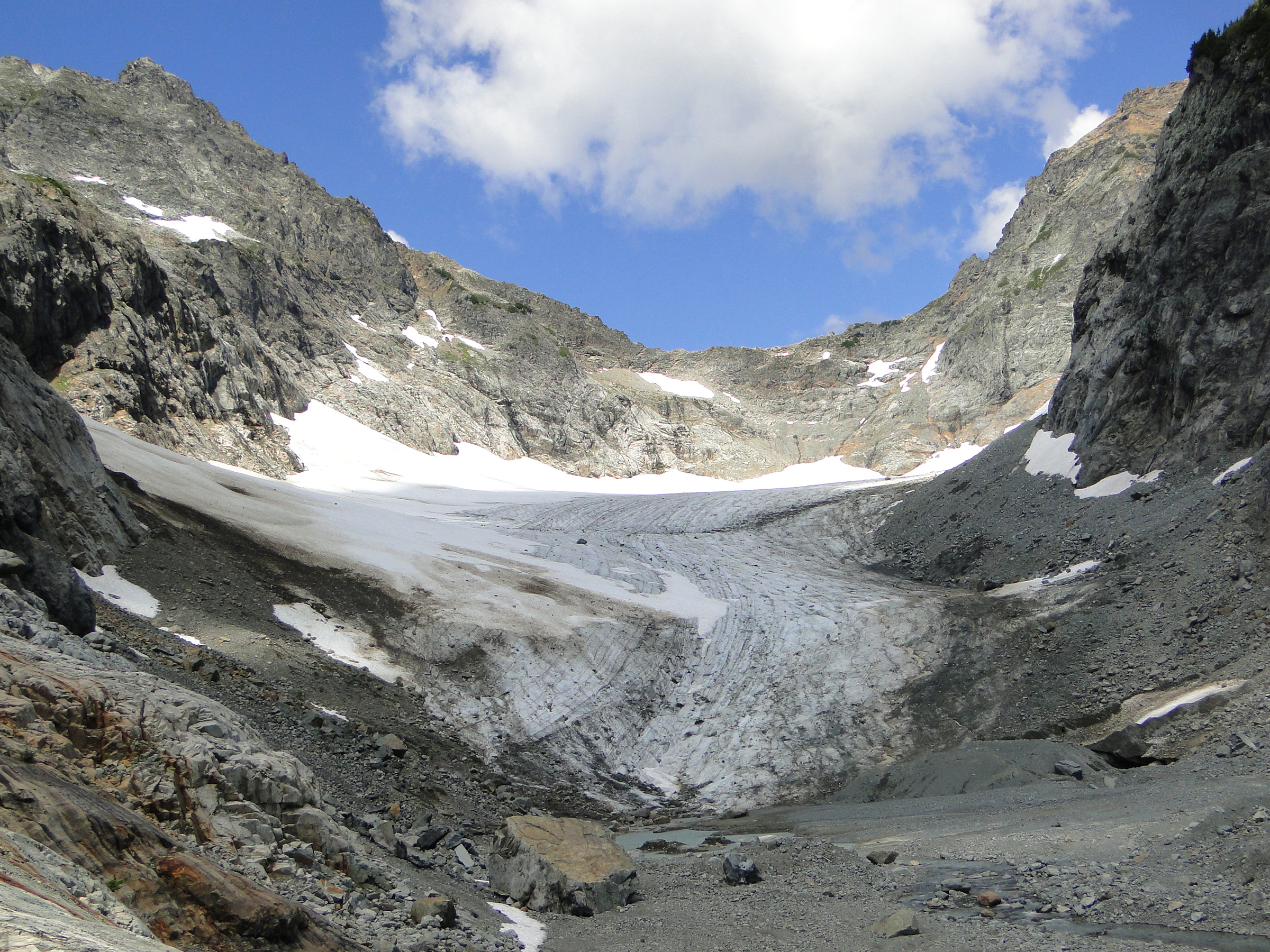 Columbia (2057) Glacier in August 2016 (taken by Mauri Pelto on 11/08/2016)